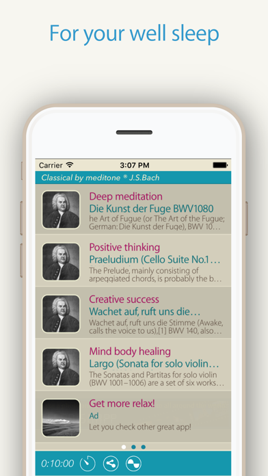"""Relax Classic """"J.S.Bach"""" by meditone® screenshot two"""
