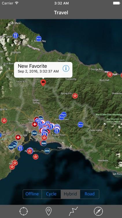 JAMAICA – GPS Travel Map Offline Navigator