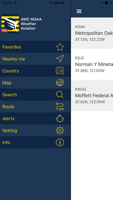 Screenshot for NOAA AWC Aviation Weather PRO in United States App Store