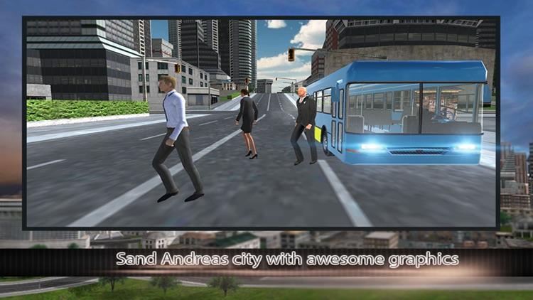 Modern city bus driver 3d : free simulation game screenshot-4