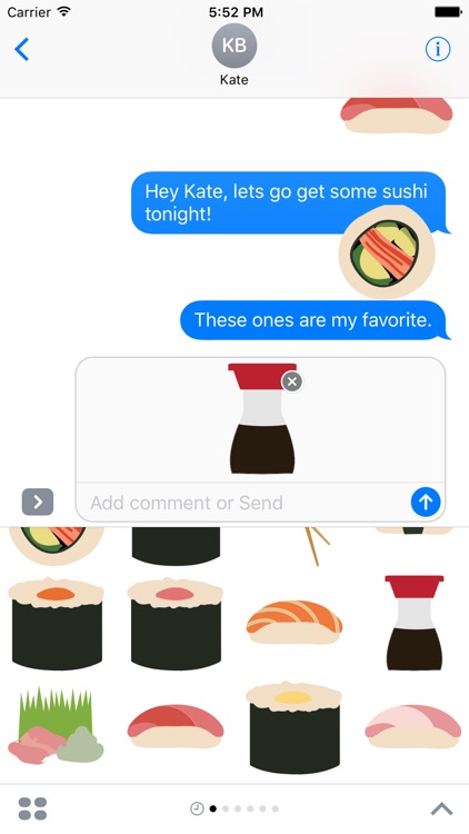 Sushi Sticker Pack for iMessage screenshot-4