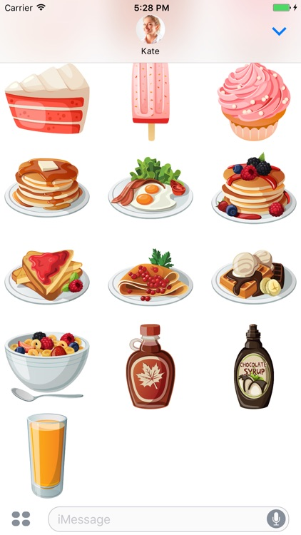 Coffee and Breakfast - stickers for iMessage