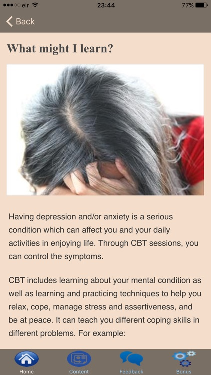 Cognitive Behavioral Therapy - Overcoming Stress