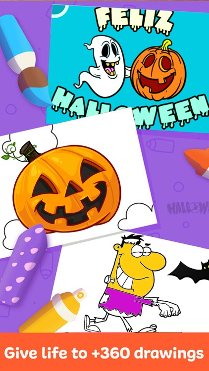 Halloween Colouring Pages : Spooky Fun