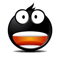 Cool Black Emoji Emotion Stickers for iMessage