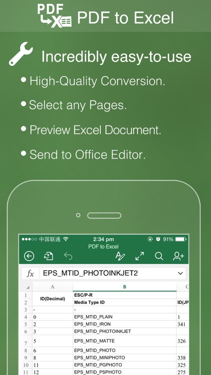 PDF to Excel Pro - Convert PDF to Excel Converter