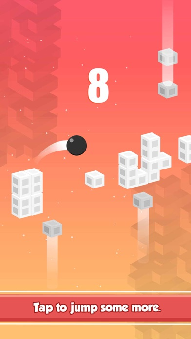 Bouncy Red Ball Jump – King of Endless Arcade Games Screenshot on iOS