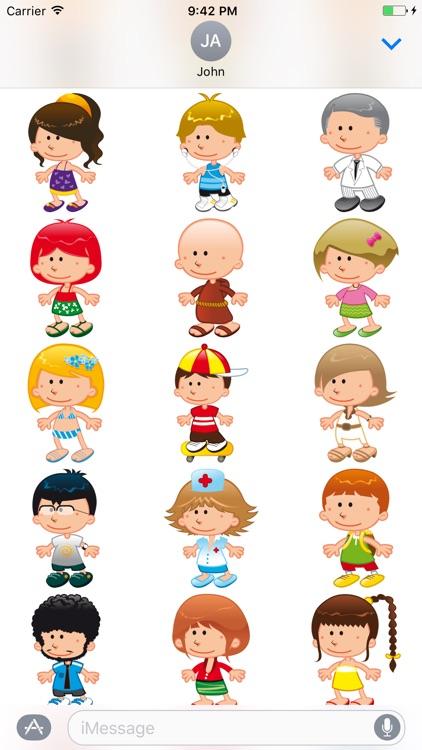 Cute Kids Sticker - DHS Pack 02
