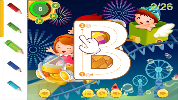 Alphabetty song Alphabet Tracing Coloring game