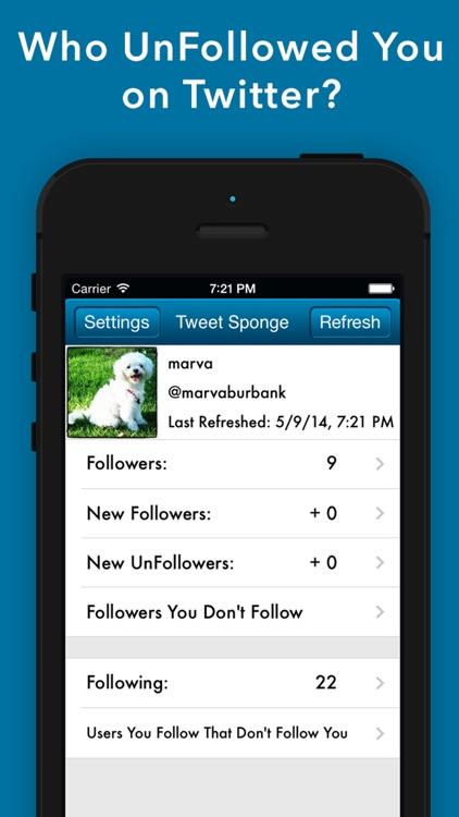 Tweet Sponge - UnFollow Stats