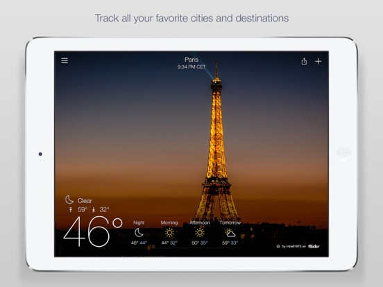 Yahoo Weather Screenshots