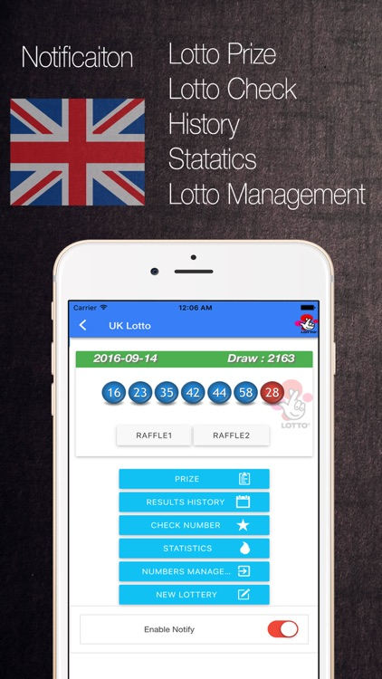 UK Lotto Thunderball 49 EuroMillions Health
