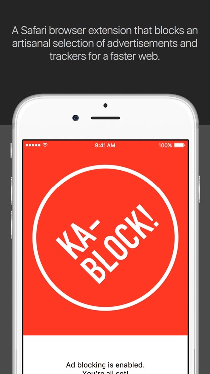 Ka-Block! — Block ads & tracking scripts