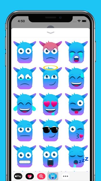 blue monster emojis by javier ignacio gallo roca