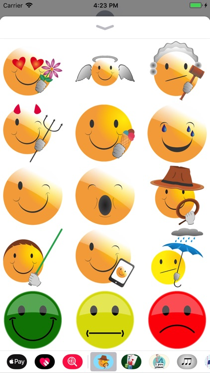 Adventure Smily Face Stickers