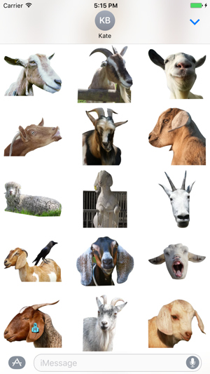 Goat Sticker for iMessage on the App Store