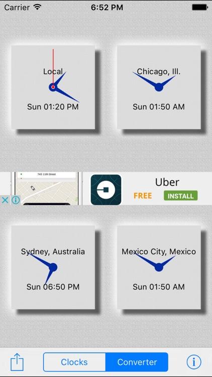 World Clocks / Time Converter screenshot-3