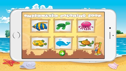 Underwater Coloring Book for Children screenshot one