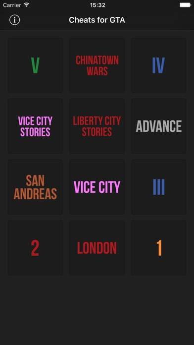 Screenshot for Cheats for GTA - for all Grand Theft Auto games in United States App Store