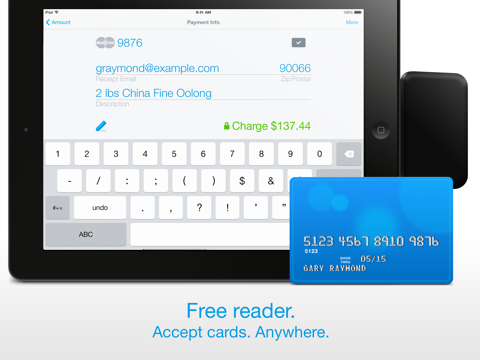 Screenshot of Credit Card Terminal & Reader