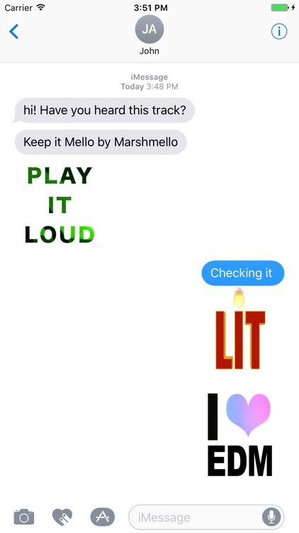 EDM Stickers for iMessage, Electronic Dance Music screenshot-1