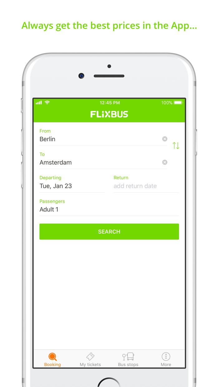 FlixBus - bus travel in Europe Screenshot