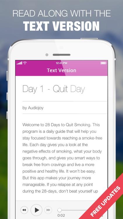 Quit Smoking in 28 Days Audio Program screenshot-4