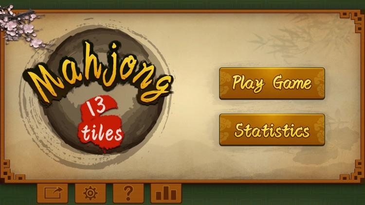 Mahjong 13 tiles