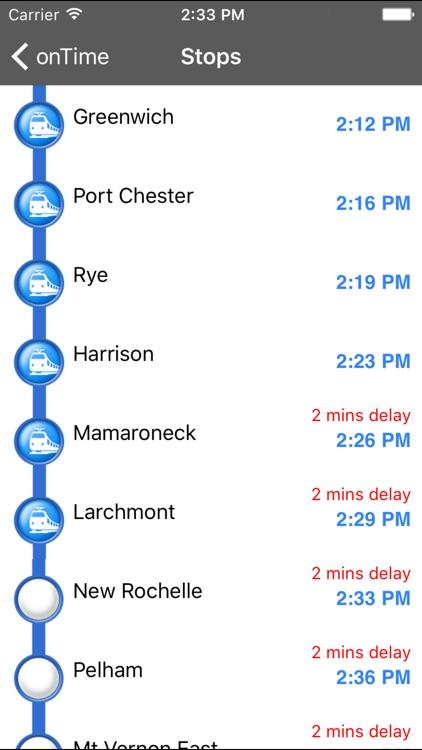 onTime : MNR (Metro North Rail)