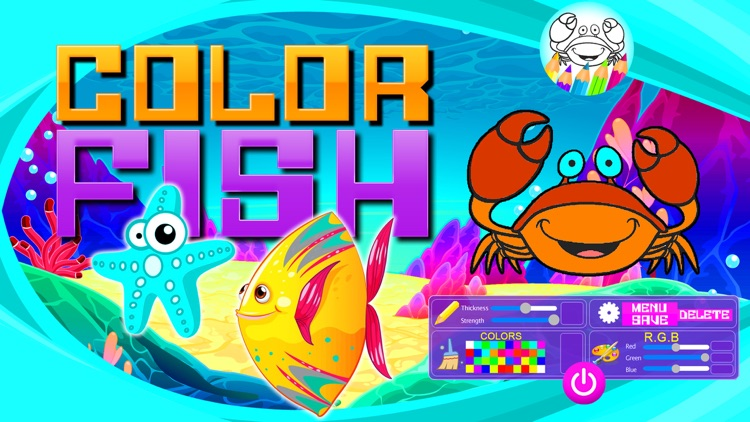Fish and Sea Animals to Paint screenshot-4