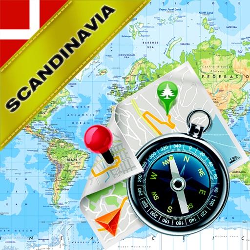 Scandinavia: Denmark, Norway, Sweden, Finland - Offline Map & GPS Navigator