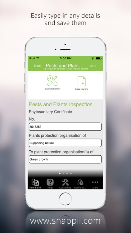 Pests and Plants Inspection Form