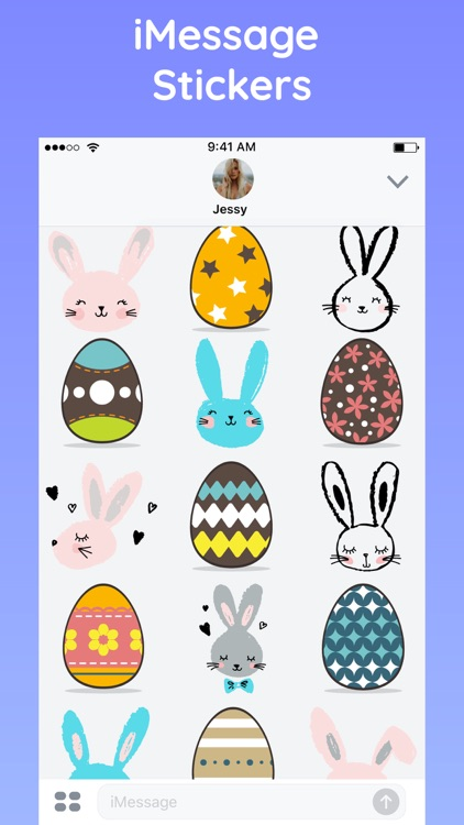 Happy Easter with Bunny & Egg