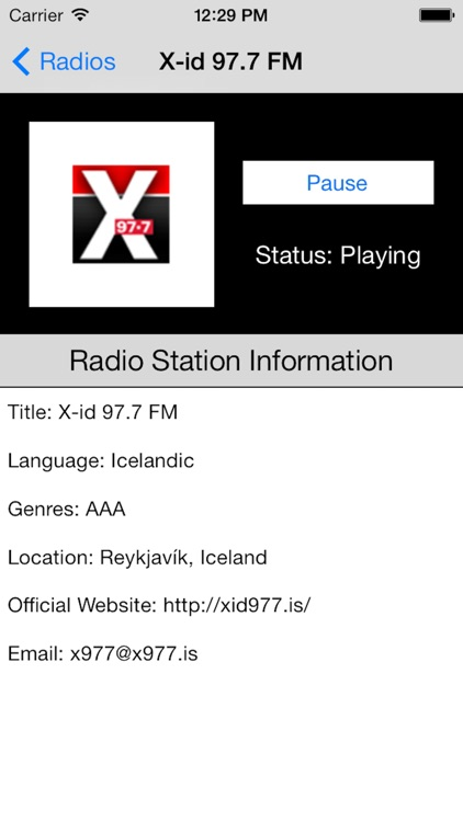 Iceland Radio Live Player (Icelandic, Ísland) screenshot-4