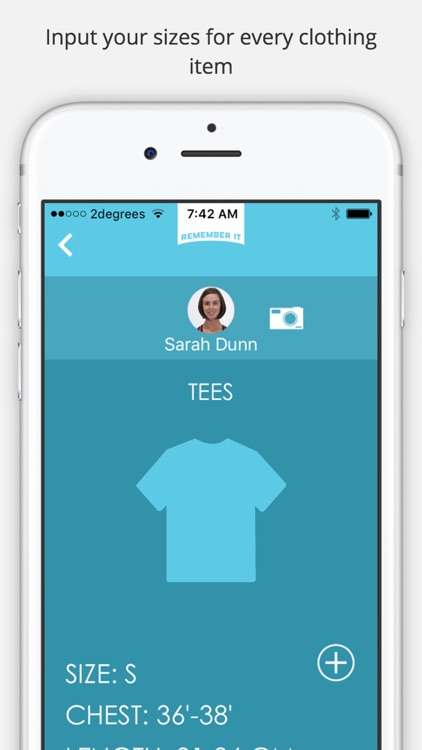 Remember It - the clothing size app you need screenshot-3