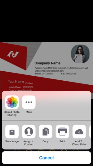 Business card maker pro on the app store reheart Choice Image