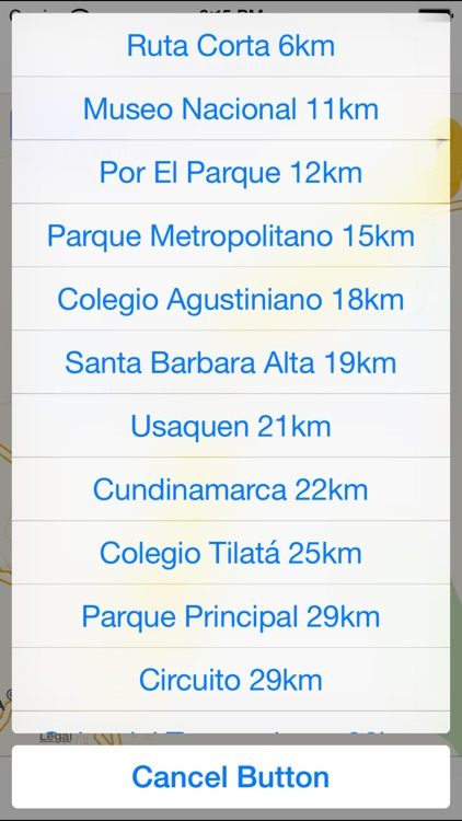 Bogota Cycling Map screenshot-3