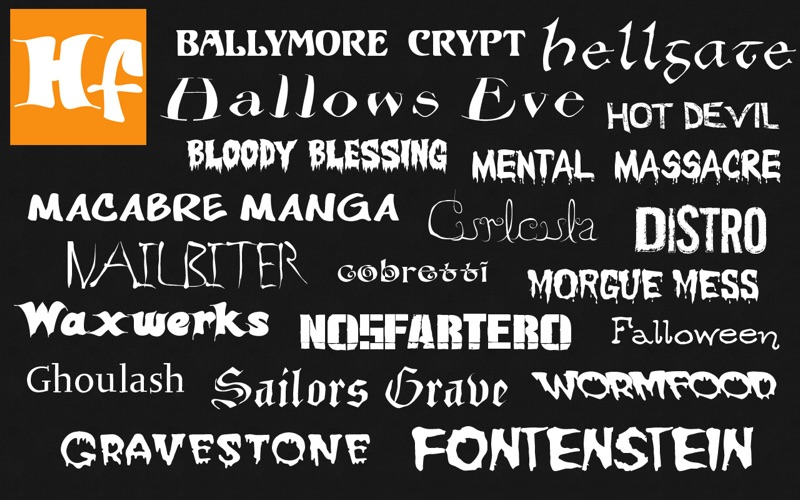 Halloween Fonts: Free Commercial Use Holiday Fonts скриншот программы 3