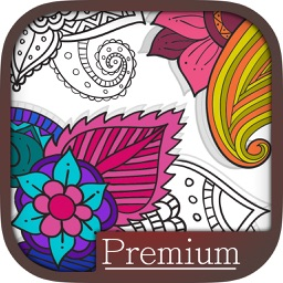 Paint & color mandalas Coloring book for - Premium