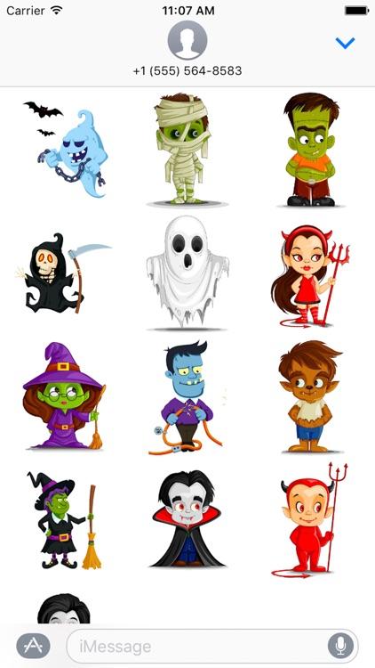 Halloween Sticker, Emoji - Fv Pack 03