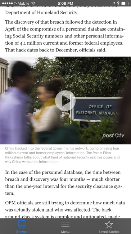 The Washington Post app image