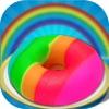 DIYレインボー甘いドーナツケーキメーカー - ドーナツシェフ - iPhoneアプリ