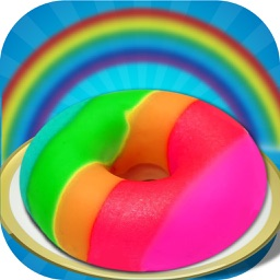 DIY Rainbow Sweet Donut Cake Maker - Donuts Chef