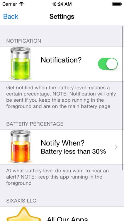 iPower - Glance Battery Usage On Watch screenshot-4