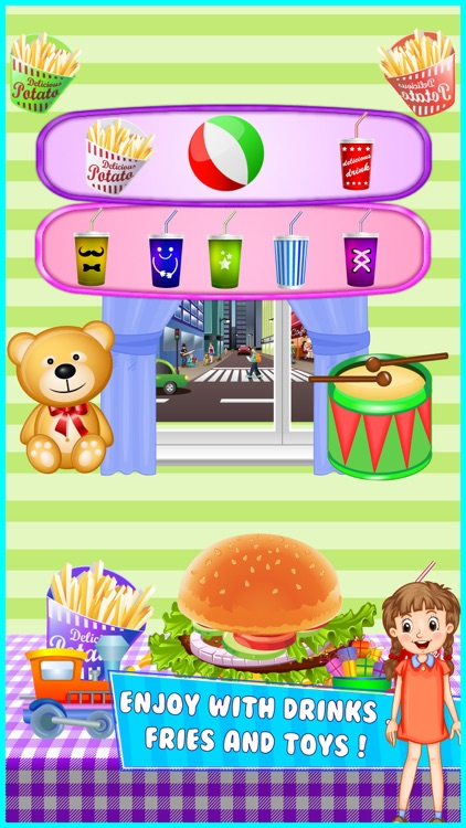 Sky Burger Maker Cooking fever - Kids Games screenshot-3