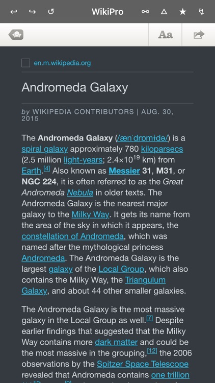 Wiki Pro - New mobile reading and browser tool screenshot-3