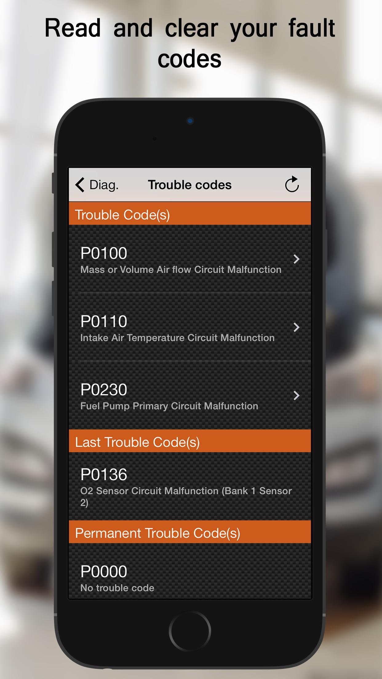 EOBD Facile - OBD2 Car Diagnostic Scan Tool Screenshot