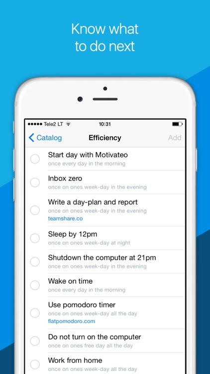 Motivateo — daily routine, goals & habits tracker.