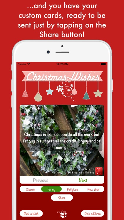 Christmas Wishes - create your custom cards screenshot-4