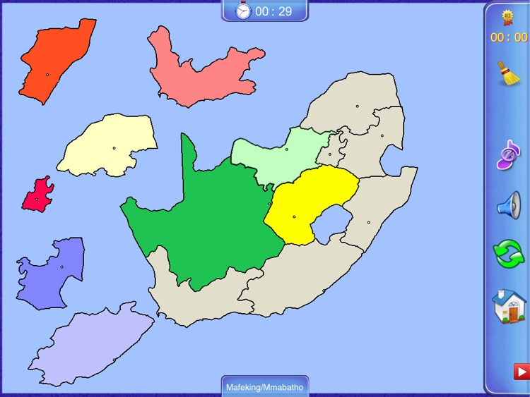 South Africa Map Game.South Africa Puzzle Map By Jenny Sun